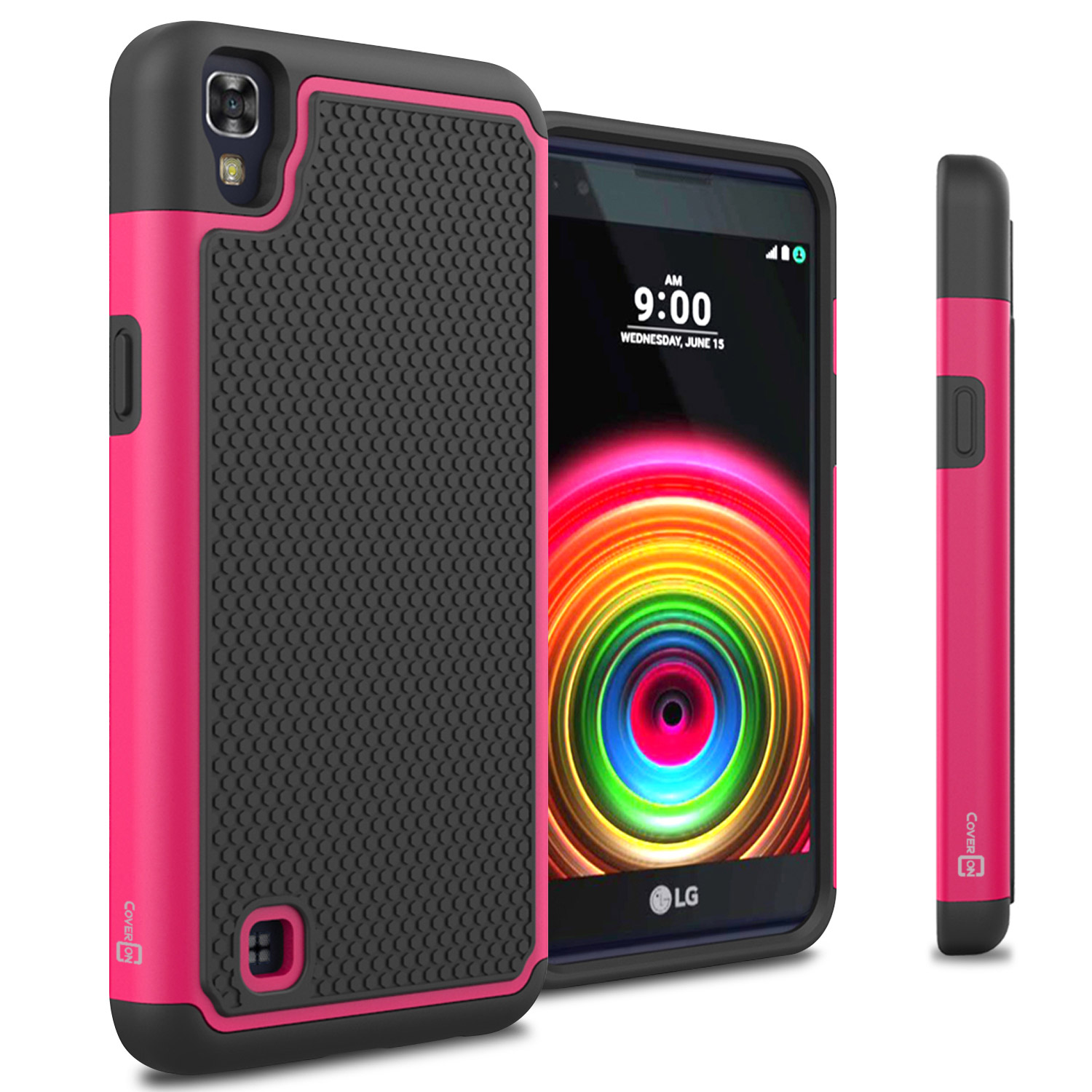 new product 33045 8f53a CoverON LG X Power Case, HexaGuard Series Hard Phone Cover