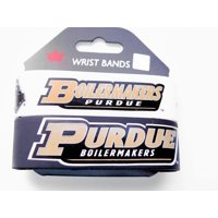 NCAA Purdue Boilermakers Sports Team Logo Rubber Wrist Band Set of 2