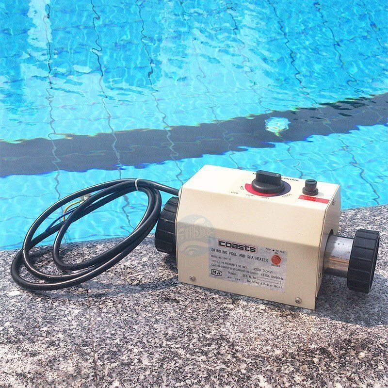 220V 3KW Water Heater Thermostat  Swimming Pool Thermostat SPA Bath Portable Pool Heater Electric Water Heater