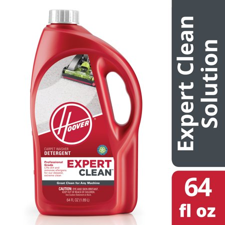 Hoover Expert Clean Carpet Washer Detergent Solution 64oz, (Hoover Carpet Detergent)