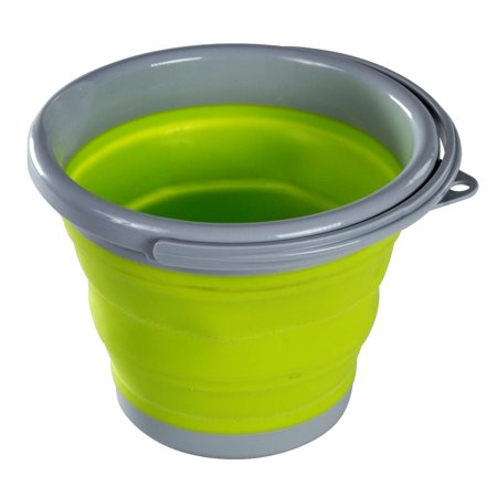 Folding Collapsible Bucket - 1 Gallon Bucket With Handle - Silicone Bucket - Collapsible Halloween Bucket