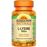 6 Pack - Sundown Naturals L-Lysine 500 mg, 100 Tablets