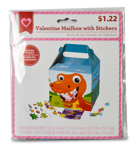 Valentine Card Mailbox Dino