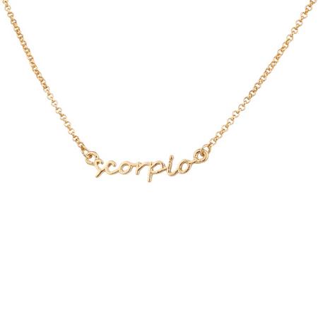 Lux Accessories Scorpio Scorpion Horoscope Zodiac Word Pendant Necklace Chinese Sheep Zodiac Pendant