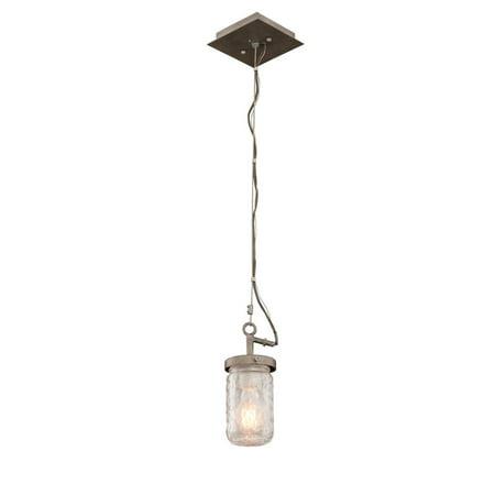 Mini Pendants 1 Light With Country Iron Finish Medium Base Bulb 12 inch 60 Watts