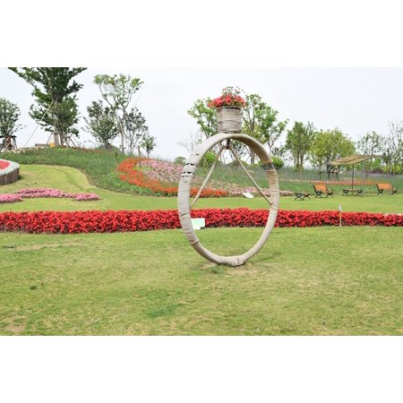 24' White Ring (LAMINATED POSTER Landscape Gardening Park Creative Diamond Ring Poster Print 24 x 36)