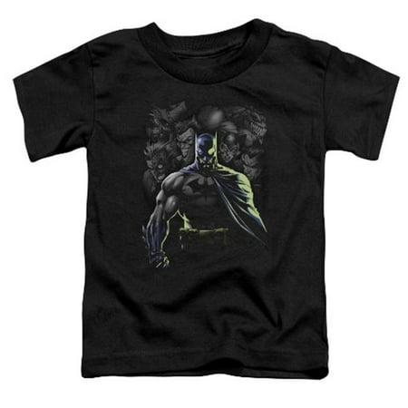 Batman-Villains Unleashed - Short Sleeve Toddler Tee - Black, Large 4T (Girl Villains)