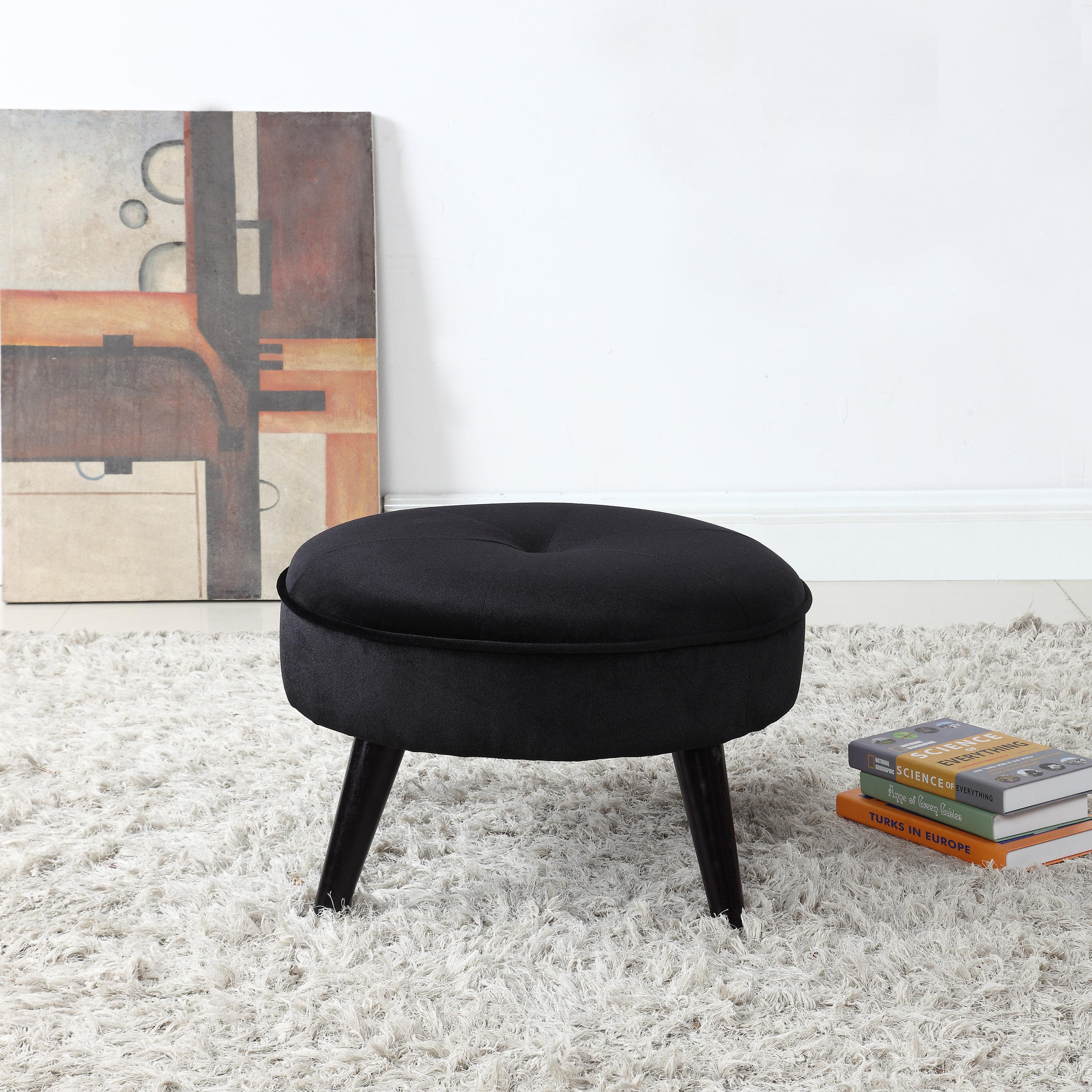 Round Velvet Footrest