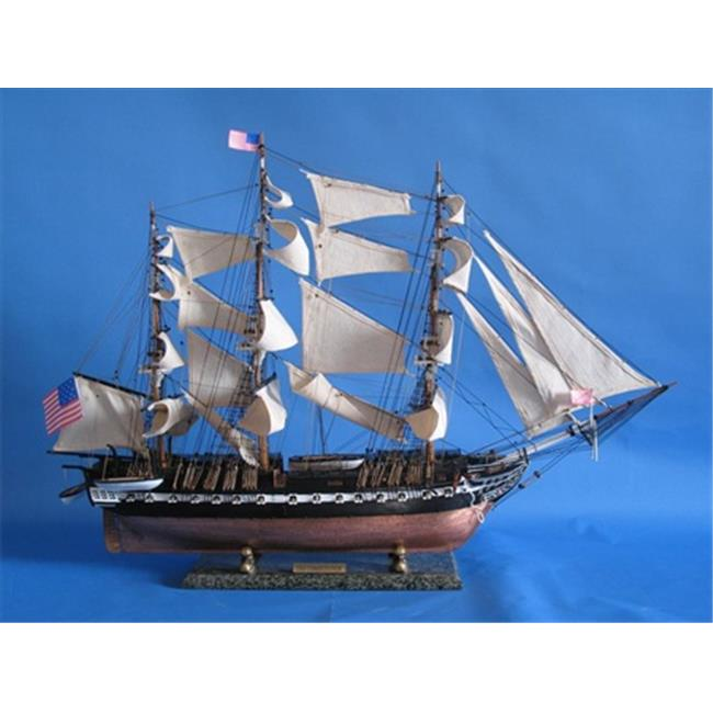 Handcrafted Model Ships B0802C USS Constitution Limited 38 inch Decorative Tall Model Ship