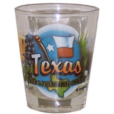 Texas Lone Star State Elements Shot Glass