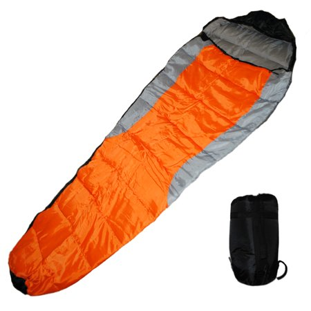 - Shop4Omni Adult Mummy Type Camping Sleeping Bag with Carrying Case