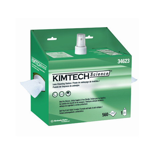 Kimberly-Clark Kimtech Science Lens Cleaning Station Wipers - 16 Oz / 1120 Wipers per Box