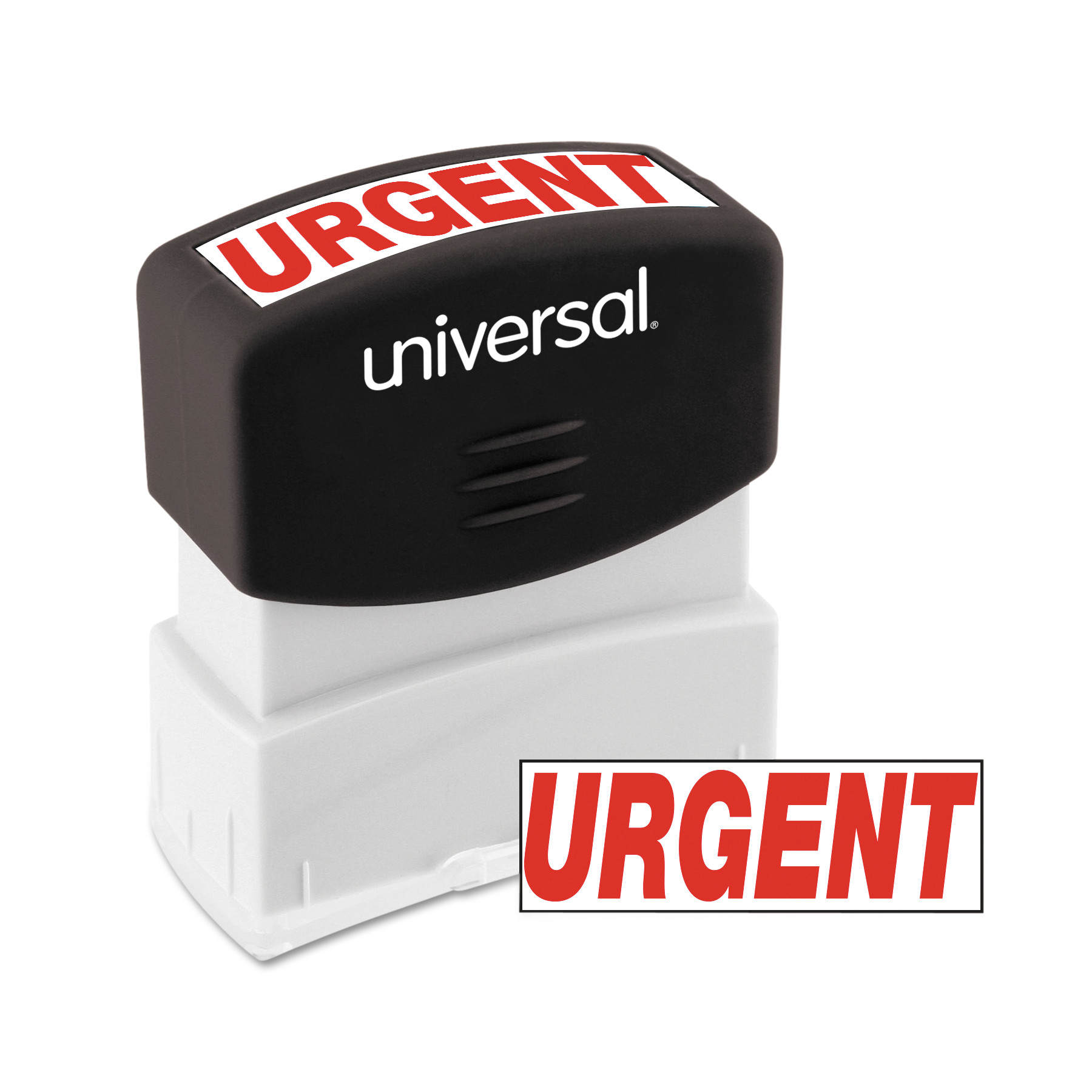 Universal Message Stamp, URGENT, Pre-Inked One-Color, Red by Universal Office Products
