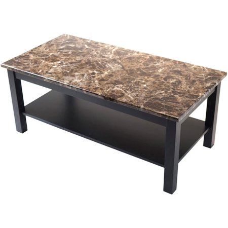 Torri Coffee Table With Faux Marble Black Walmart Com
