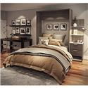 "Cielo by Bestar Elite 85"" Queen Wall Bed kit in Bark Gray and White"