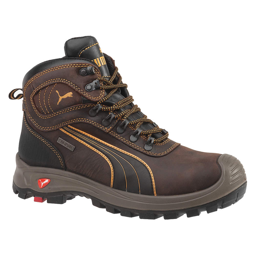 PUMA SAFETY SHOES Boots,  Size 10,  Toe Type: Composite, ...