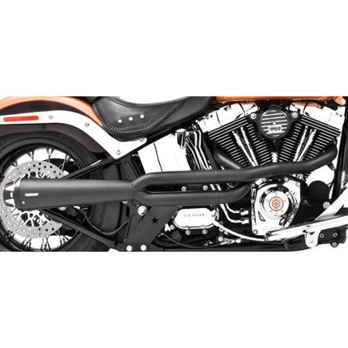 Freedom Performance American Outlaw Exhaust Black-High Fits 86-14 Harley-Davidson FLS Softail Slim