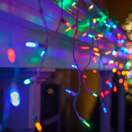 Wintergreen Lighting 70 Led Multi Color Icicle Lights 7 5 White Wire Christmas Party Decorations Indoor Outdoor