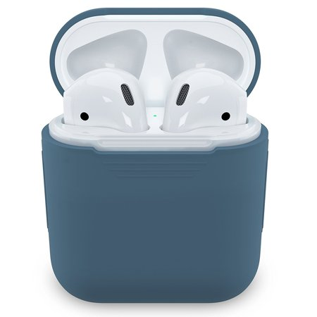 Tiehnom AirPods Silicone Case Cover Protective Skin for Apple Airpods Charging Case (Cobalt