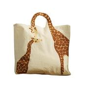 Women's Loving Giraffes Tote Bag - Natural Cotton Canvas