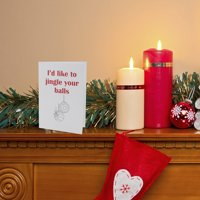 """3 Pack Crimson and Clover """" Jingle Your Balls Christmas cards"""