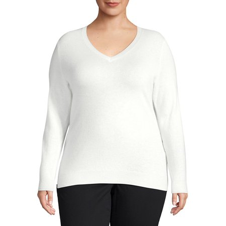 Plus Essential Cashmere V-Neck Sweater