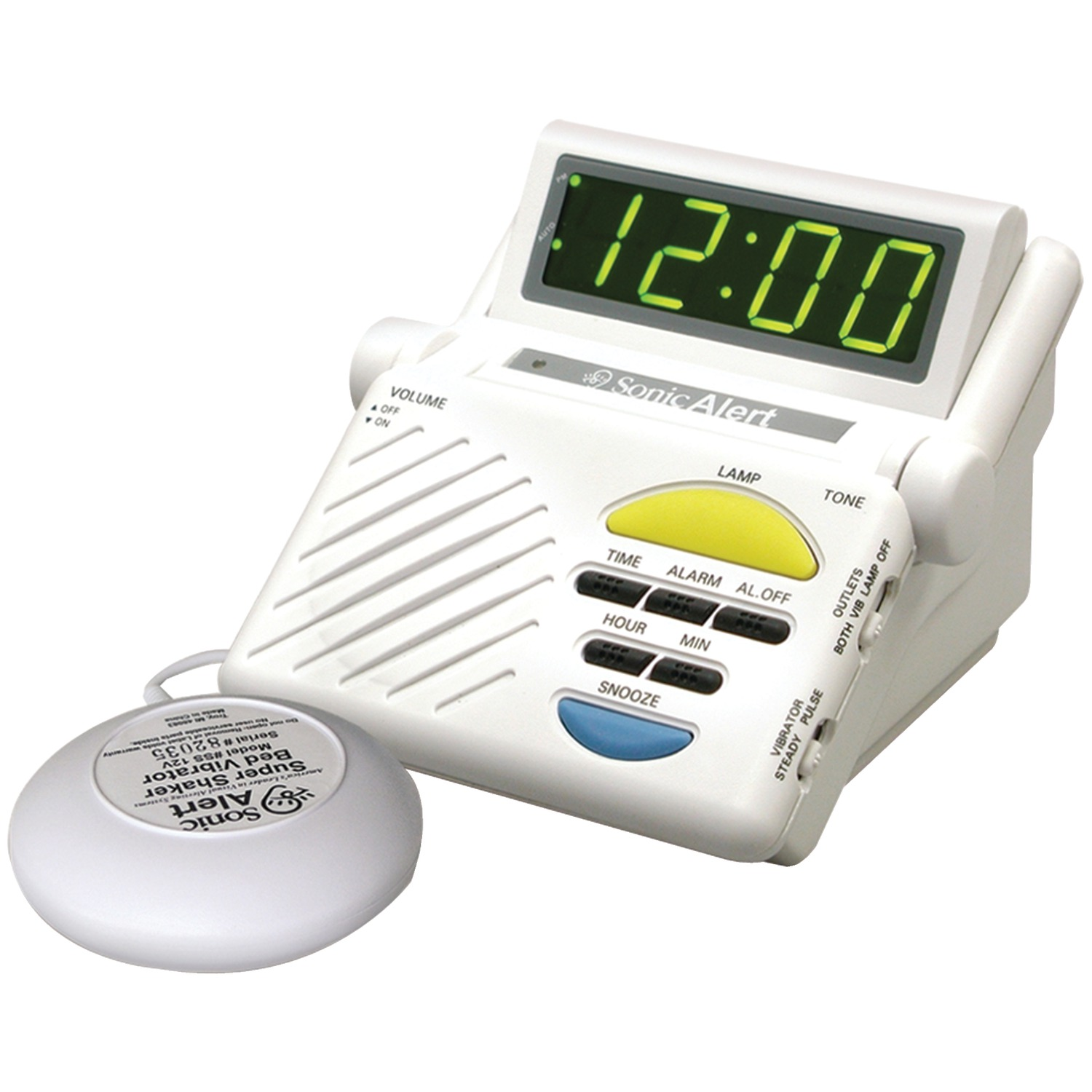 Sonic Alert Sb1000ss Sonic Boom Combination Alarm Clock With Super Shaker