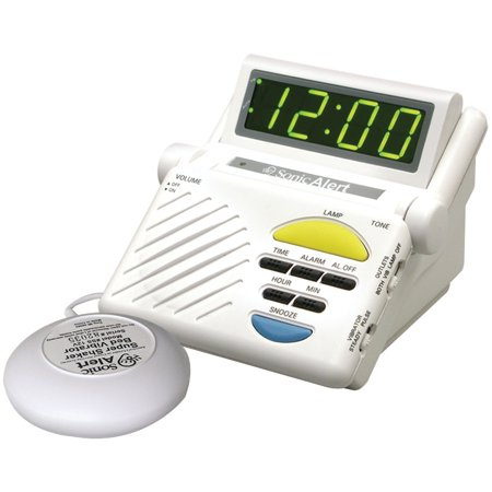 - Sonic Alert Sb1000ss Sonic Boom Combination Alarm Clock With Super Shaker