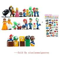 "28 Piece Super Mario Bros Super Mary Princess, Turtle, Mushroom, Orangutan , Super Mario Action Figures, 2"""