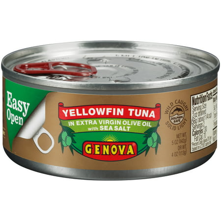 (3 Pack) Genova Yellowfin Tuna in Olive Oil with Sea Salt, 5