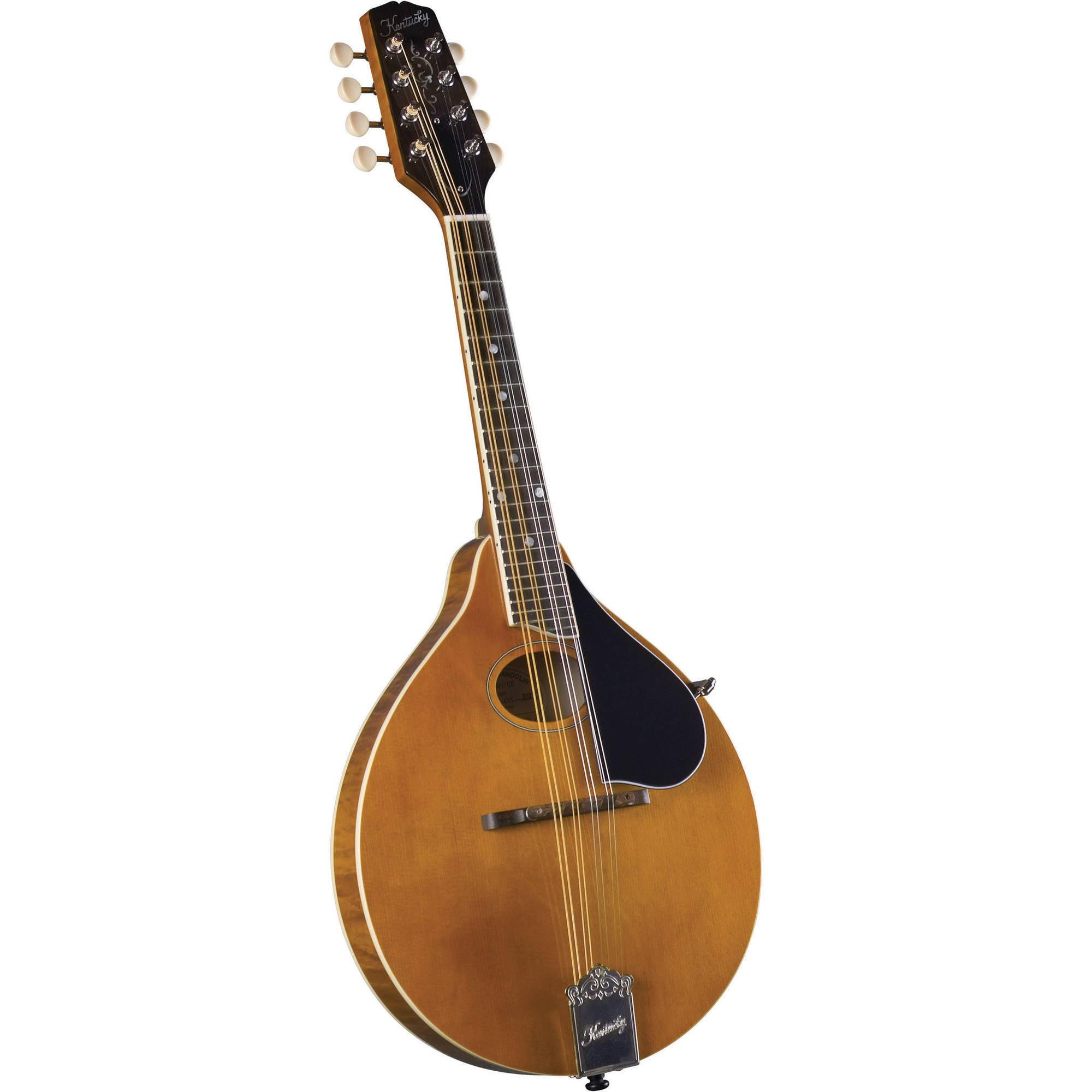 Kentucky KM-272 Artist Oval Hole A-Model Mandolin, Transparent Amber by Kentucky