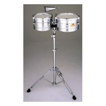 Latin Percussion Caliente Steel Timbalitos w Tilt Stand & Cowbell by LP