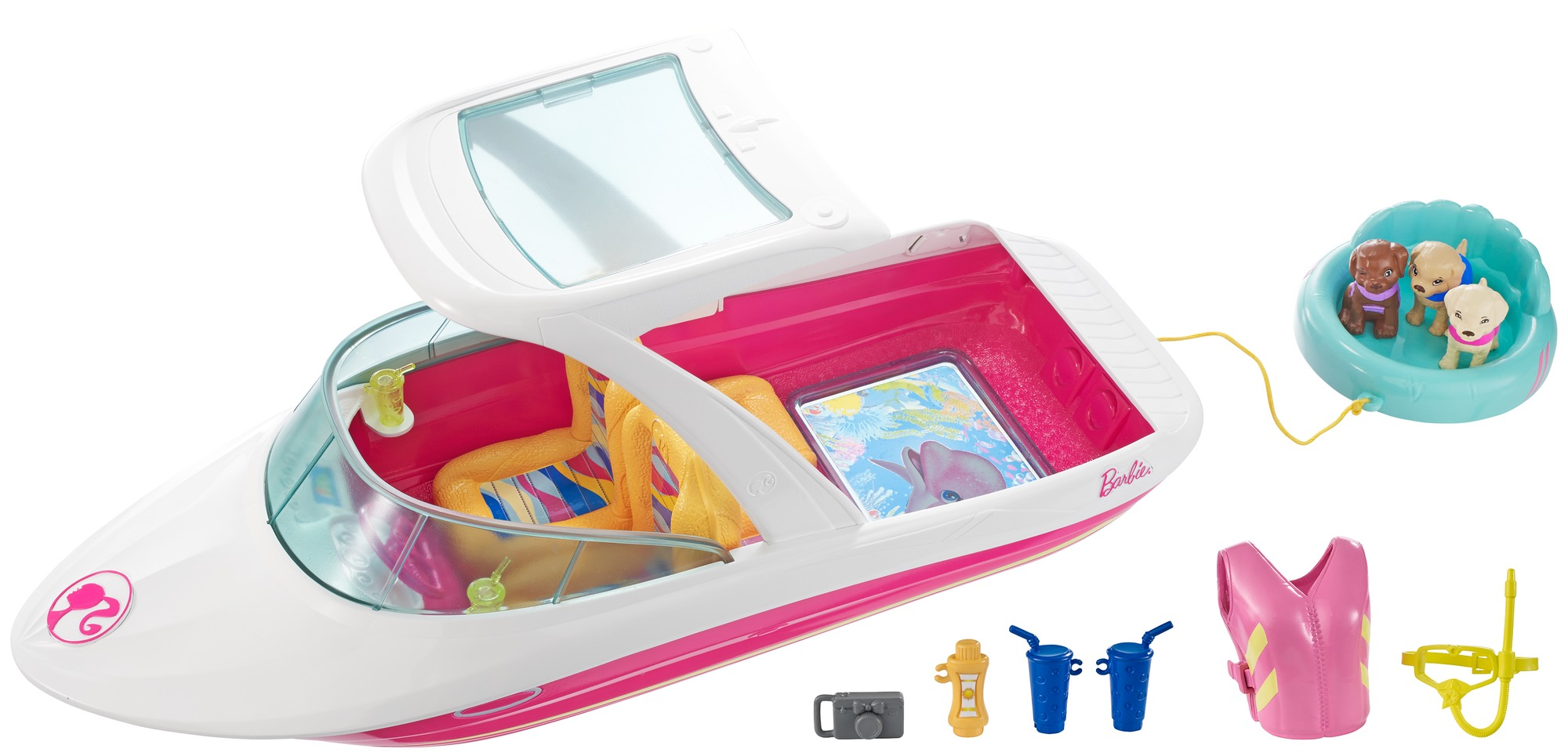 Barbie Dolphin Magic Ocean View Boat Playset by Mattel
