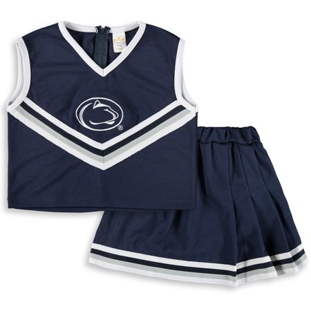 Penn State Nittany Lions Girls Toddler Two-Piece Cheer Set - Navy - Lion Outfit