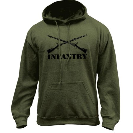 Army Infantry Branch Insignia Military Veteran Pullover Hoodie Sweatshirt