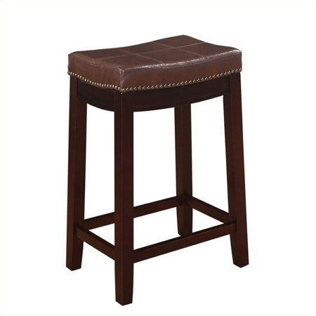 Pemberly Row 26 Quot Patches Counter Stool In Dark Brown