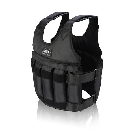 44LB/ 20KG Adjustable Weighted Vest Workout Exercise Boxing Training Fitness (Weights not (Best Weighted Vest Exercises)
