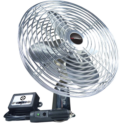 Schumacher 12V Chrome Fan, 125