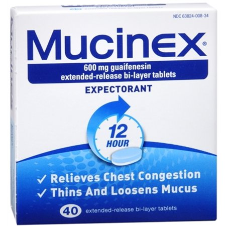 - 2 Pack - Mucinex Expectorant Extended Release Bi-Layer Tablets 40 Tablets