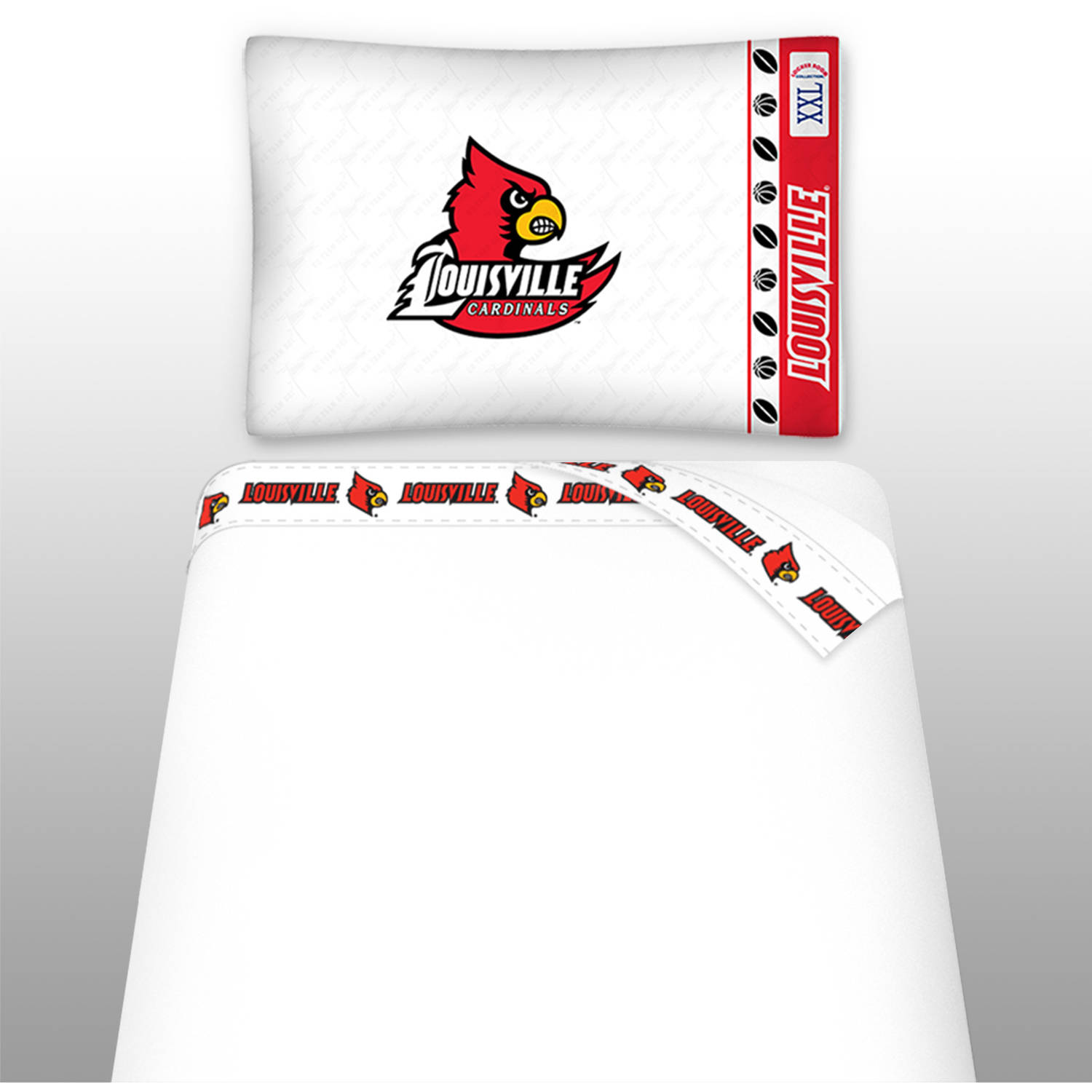 NCAA University of Louisville Micro Fiber Sheet Set