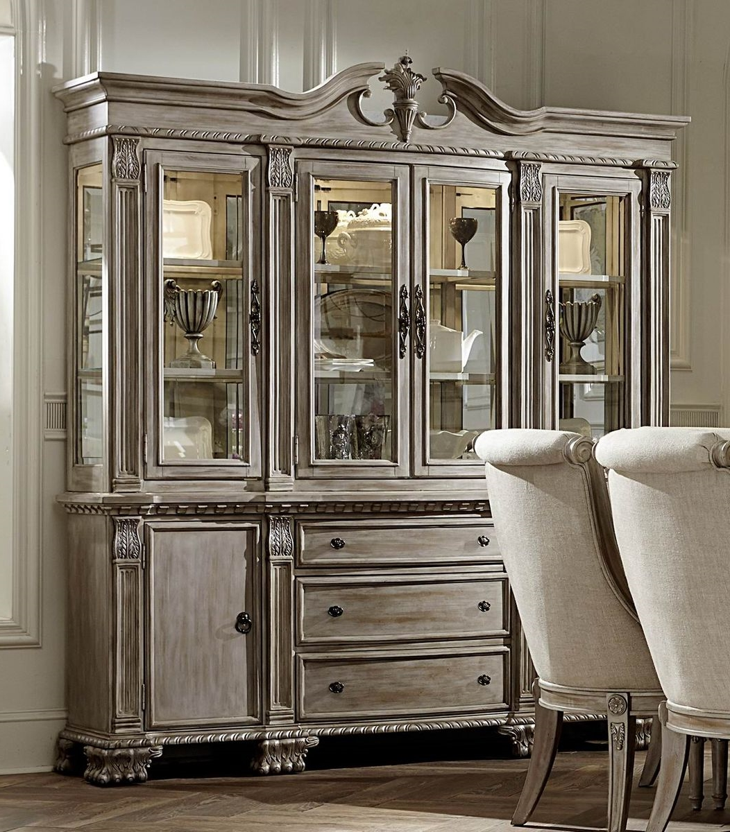 Chatelet White Washed China Cabinet by