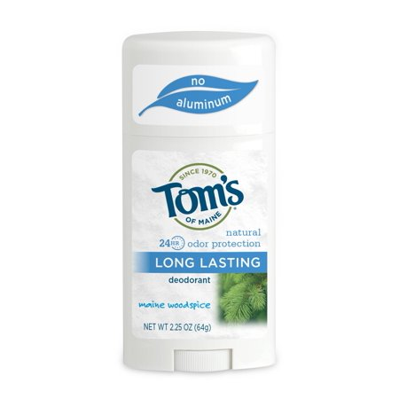 - Tom's of Maine 24-Hour Long-Lasting Deodorant Stick, Maine Woodspice, 2.25 Oz