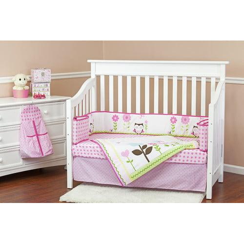 Dream On Me Baby Owl 5 Piece Crib Bedding Set