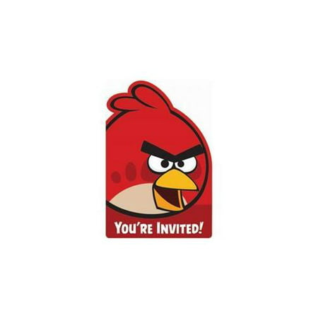 Angry Birds Invitations (8-pack) - Party Supplies