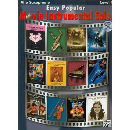 Easy Popular Movie Instrumental Solos: Alto Saxophone, Level 1