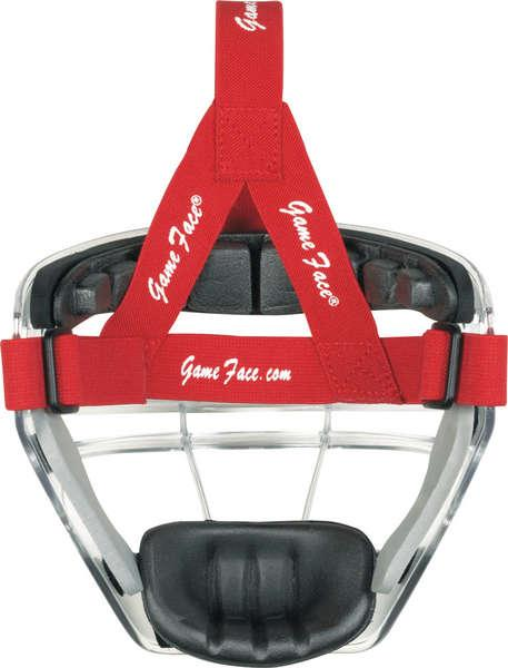 Clear Game Face Mask-Size:Large,Strap Color:Purple by Game Face