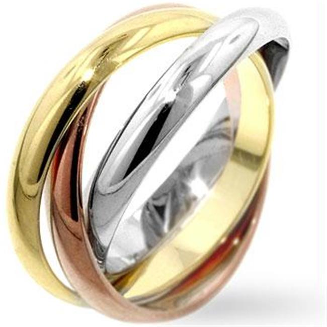 Mixed Metal Triple Ring Set, <b>Size :</b> 08