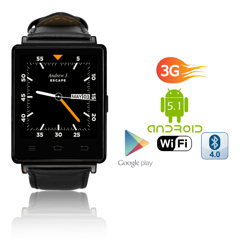 inDigi 1 NEW Unlocked Watch & 3G SmartPhone - Android 5.1...