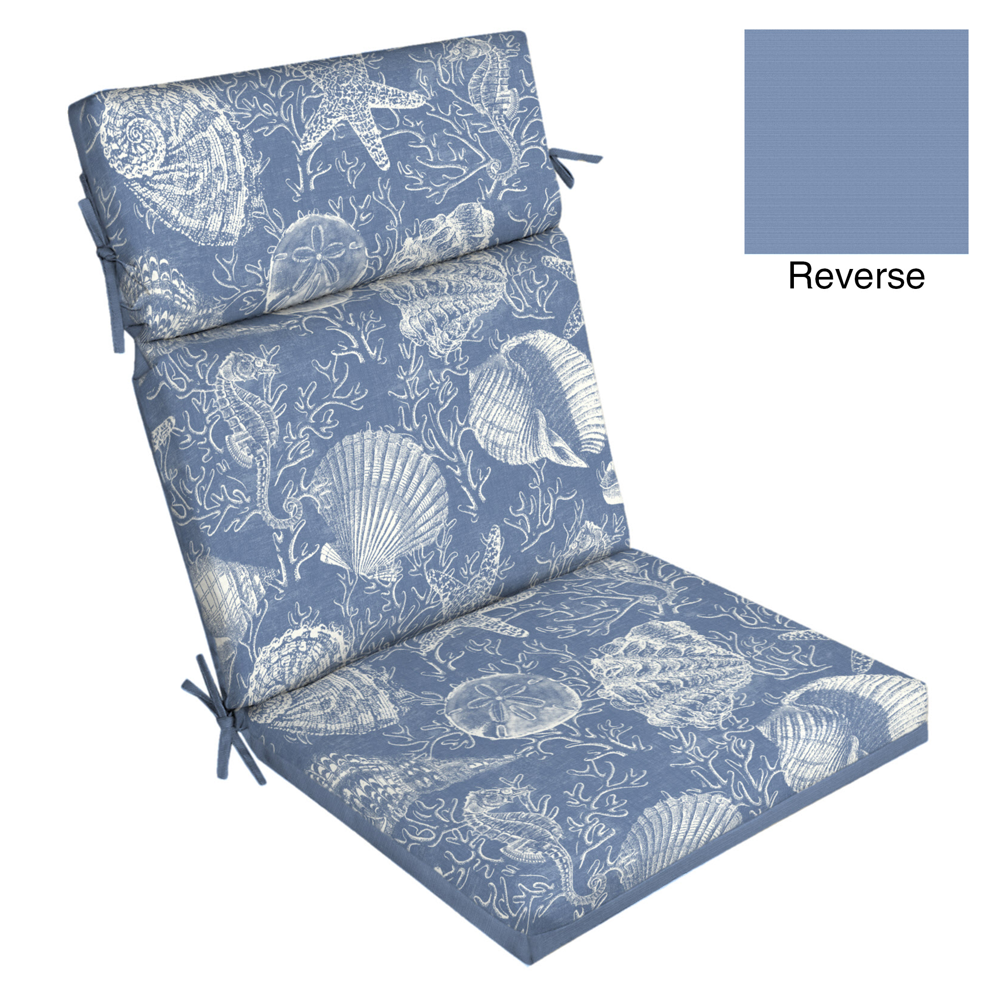 Better Homes and Gardens Blue Shells 1pc Chair Cushion