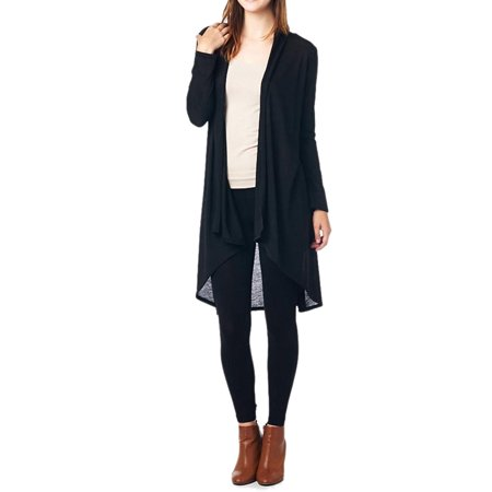 82 Days Women'S Hacci Open Front Stylish Long Cardigan - Solid - Pink Ladies Jackets Grease